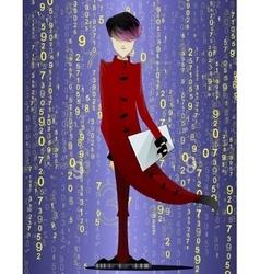 Programmer coder hacker Isolated vector image