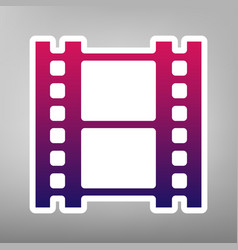 Reel of film sign purple gradient icon on vector