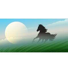 Running stallion vector