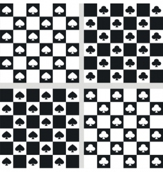 seamless checkered textures vector image vector image