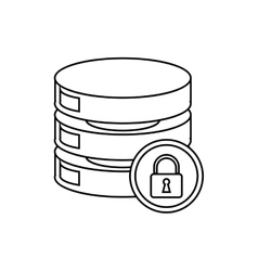 Security data center server network outline vector
