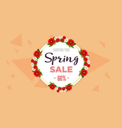 spring sale background banner with colorful vector image vector image