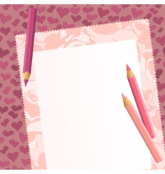 tag on the romantic background vector image vector image