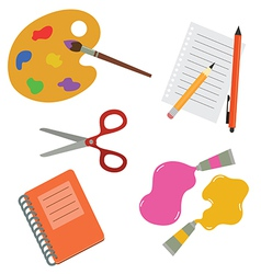 Tools for school and hobby vector