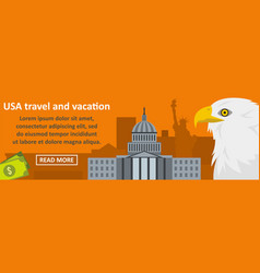 usa travel and vacation banner horizontal concept vector image vector image