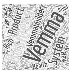 Vemma products word cloud concept vector