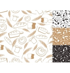 Vintage bakery backgroundseamless patternhand vector