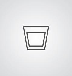 Vodka outline symbol dark on white background logo vector