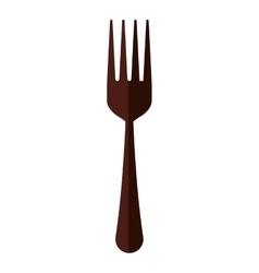 fork cutlery menu kitchen restaurant icon vector image