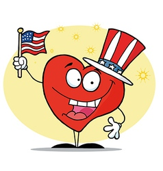 Patriotic american heart vector