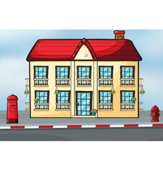 A house and a mailbox vector