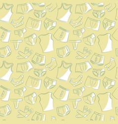 Male underwear doodle pattern vector