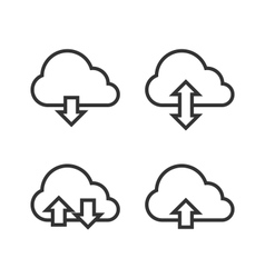 Cloud storage icon set vector