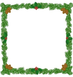 Christmas wreath frame vector