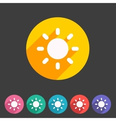 Sun badge flat icon sign set symbol vector