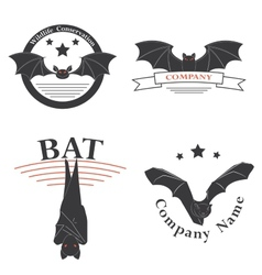 Logos with the image of a bat vector