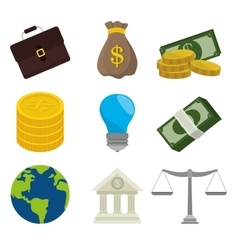 Business money and global economy vector