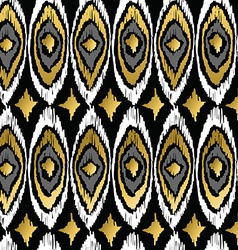 Gold peacock retro tribal boho pattern background vector image