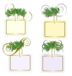 Set of christmas labls vector