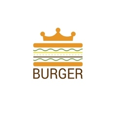 Burger king shop icon logo design vector