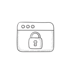 Security browser sketch icon vector