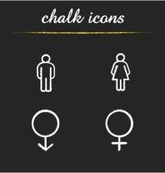 Gender icons vector