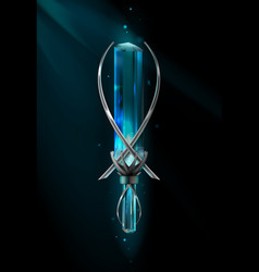 Amulet with gemstone vector