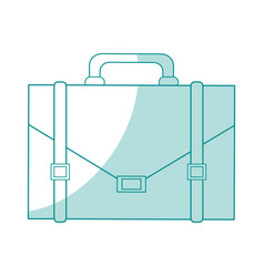 Blue silhouette shading image executive briefcase vector