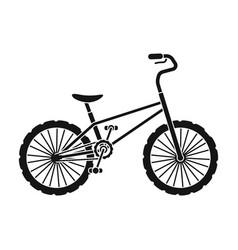 bmx cyclist bicyclist athletes sportsman bike for vector image