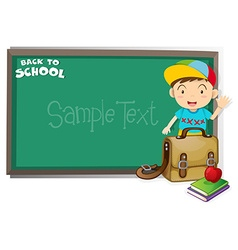 Border design with back to school theme vector image vector image