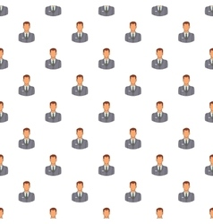 Businessman pattern cartoon style vector image
