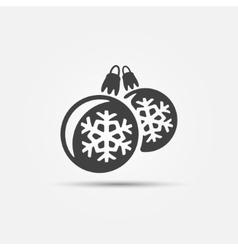 Christmas ball icons vector image vector image