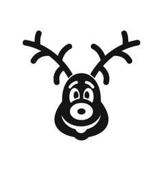 Christmas deer icon simple style vector image vector image
