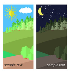 clearing in the forest vector image