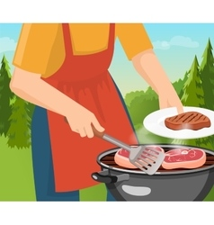 Cooking Barbecue Concept vector image vector image