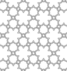 Flowers pattern black and white ornament vector