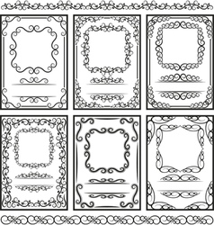 Frames and borders vector