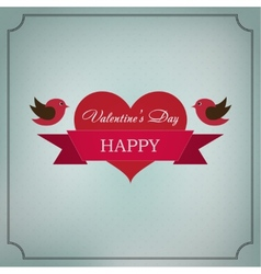 Greeting card Happy Valentines Day in the old vector image vector image