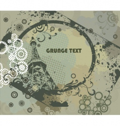 Grunge frame with urban elements vector