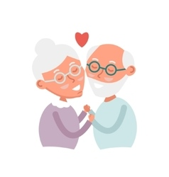 Happy old couple together Cute Seniors couple in vector image vector image