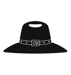 Hat icon simple style vector