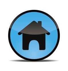 Home web button round vector