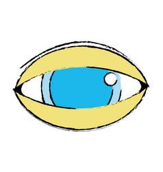 human eye to optical vision icon vector image