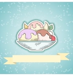 Ice cream invitation card vector image