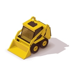 Isometric mini loader vector