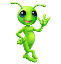 little green man alien vector image
