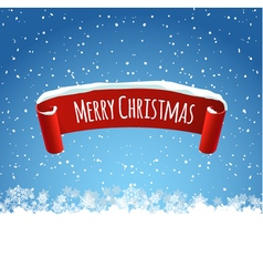 Merry christmas background with red realistic vector