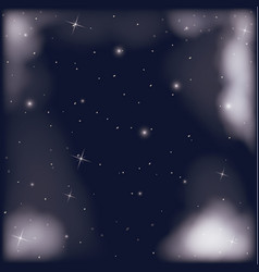 Nightly sky scene with starry background and vector