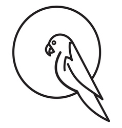 Parrot simple icon vector image vector image