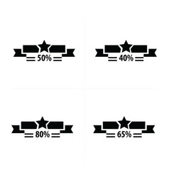 Price tags set and star vector